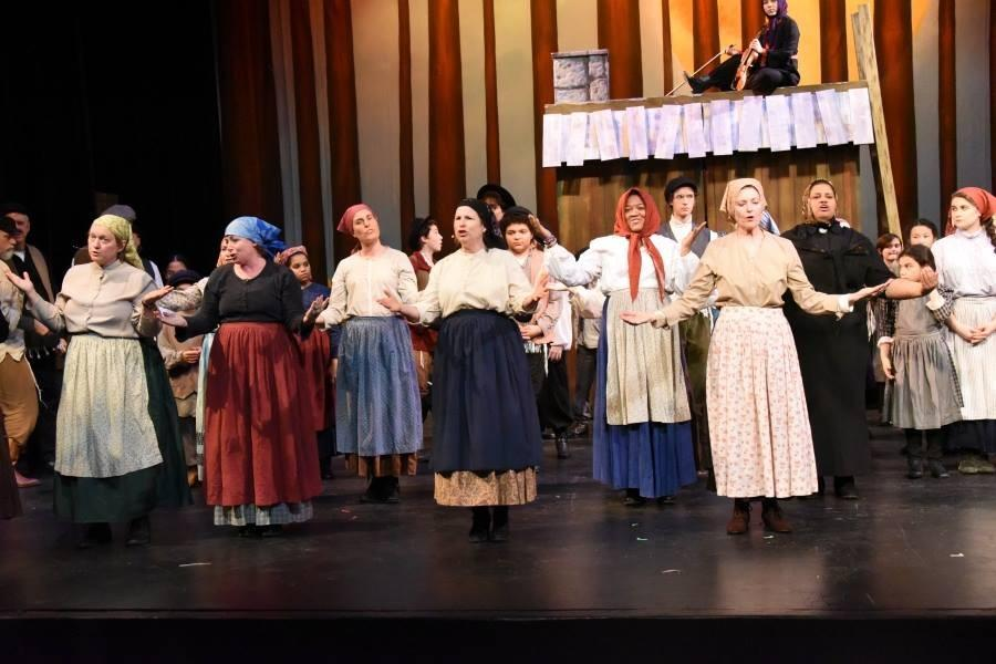 The 'Mamas' in Fiddler on the Roof perform a dance