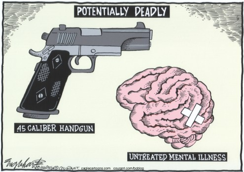 gun control and mental illness essay The case for more guns (and more gun control)  mental-health professionals could be encouraged—or mandated—to report patients they suspect shouldn't own guns to the fbi-supervised.
